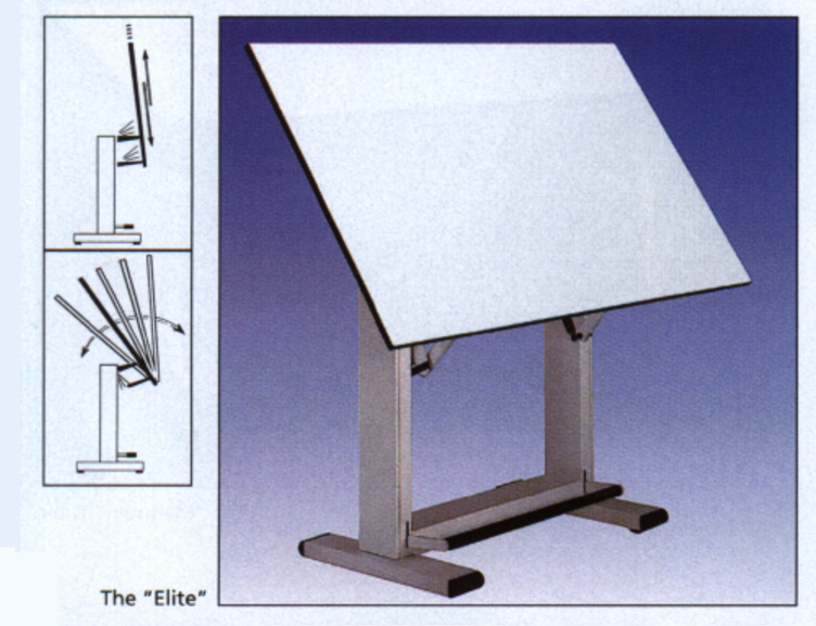 double pedestal drafting table - Drafting Tables