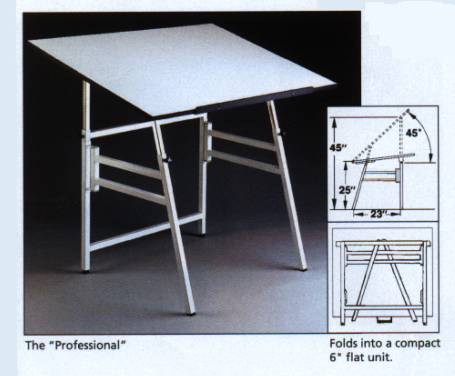 Drafting table dimensions - Pro Folding Drawing Table