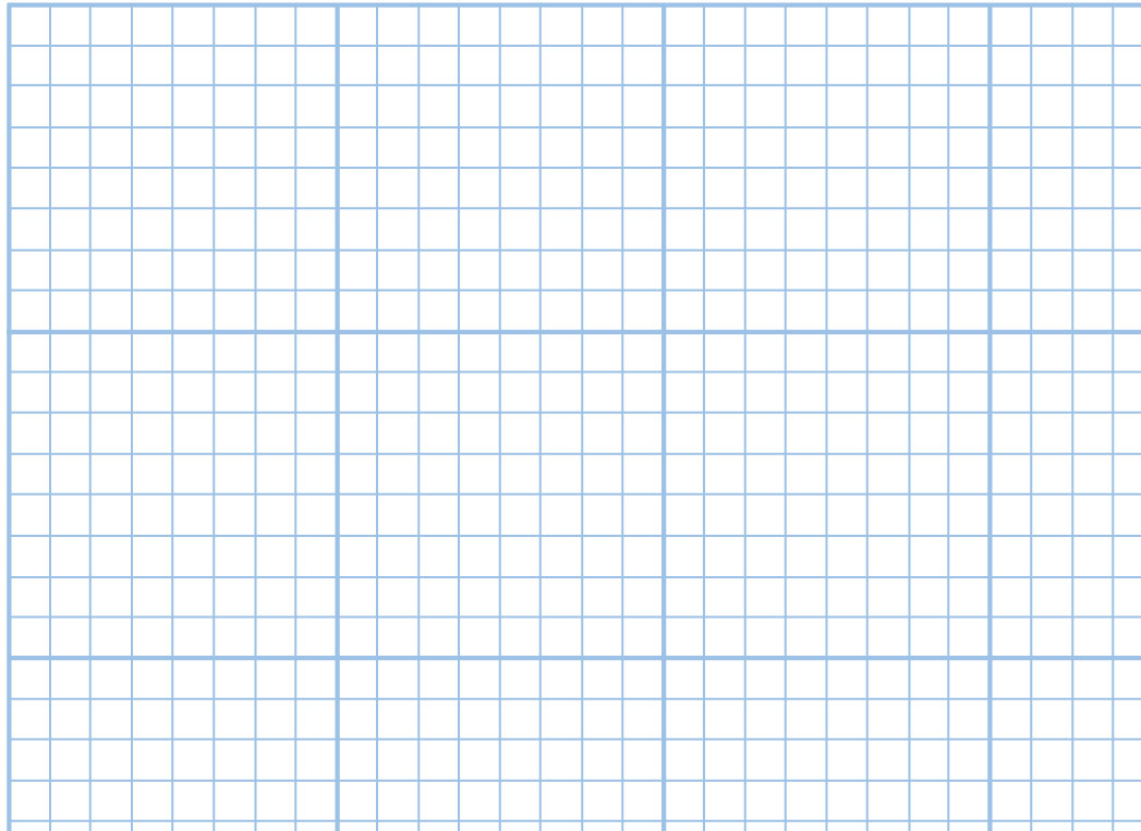 Gridded blue, 4 x 4, 8 x 8, 10 x 10 squares to the inch and Isometric.
