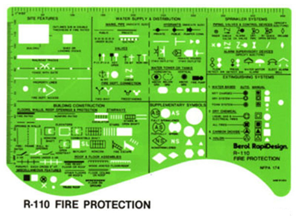 Accidents Prevention Plan Drafting And Design Template Stencil ...